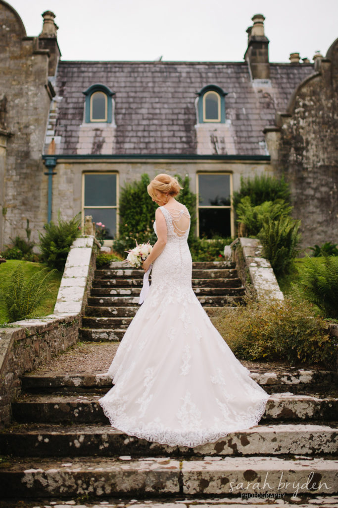 Ronald Joyce Beaded Wedding Dress from Creative Ideas Bridal, photographed by Sarah Bryden Photography