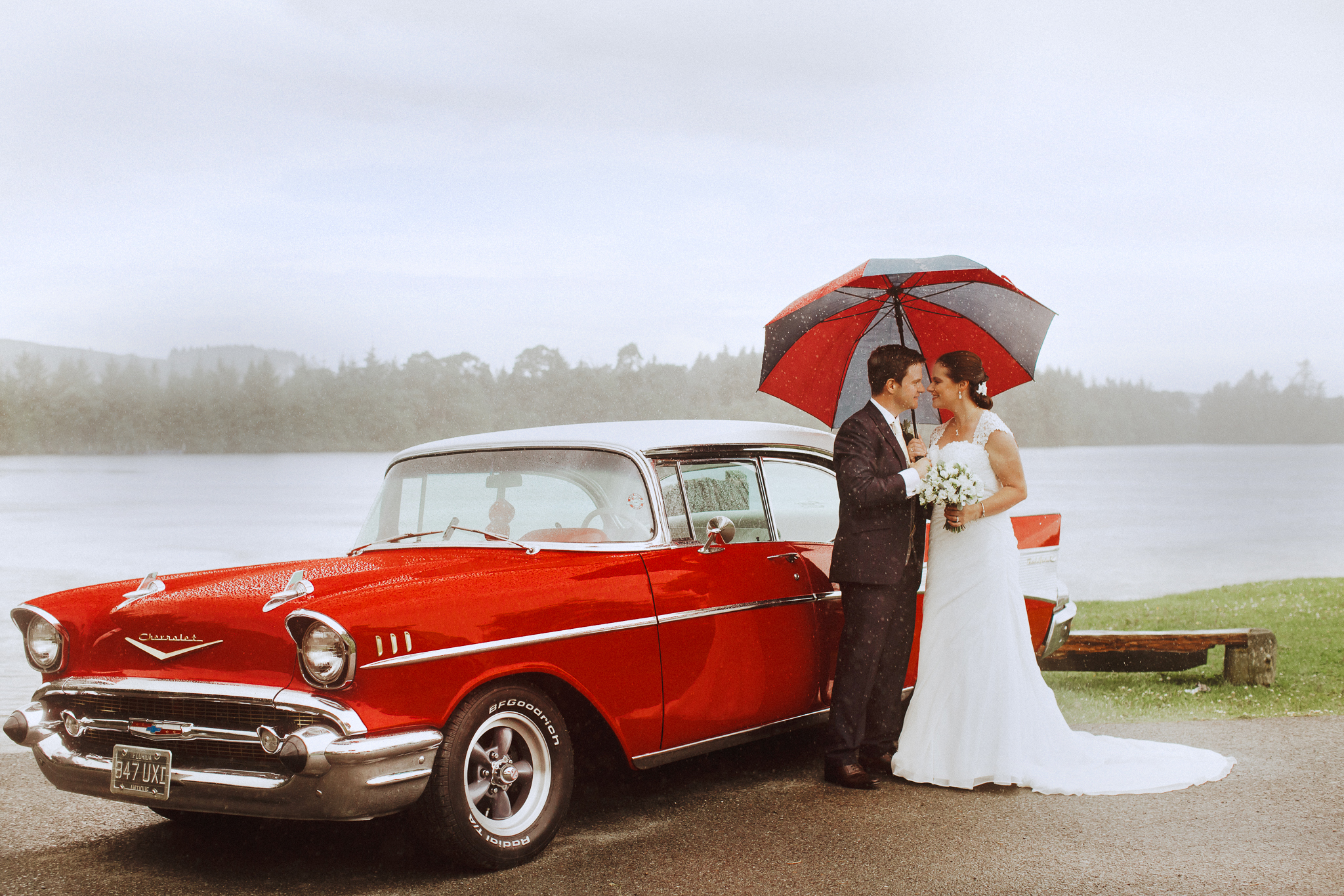 Wedding with a red chevy, Ireland